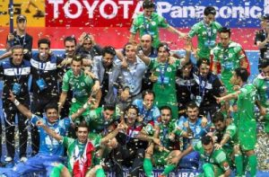 Champion of Iran representative in futsal Champions League with shirt of …