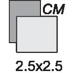 دایا 2.5X2.5-standard
